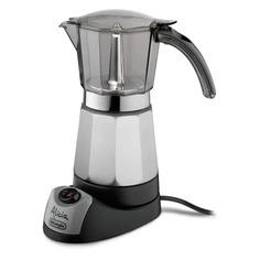 Кофеварка DELONGHI EMK 9, гейзерная, серебристый [132041002] Delonghi