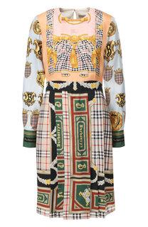 Шелковое платье-миди Burberry