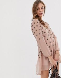 Платье с отделкой Raga Seeing Stars - Розовый
