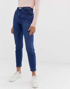 Темные джинсы слим в винтажном стиле с завышенной талией ASOS DESIGN Recycled Farleigh - Синий