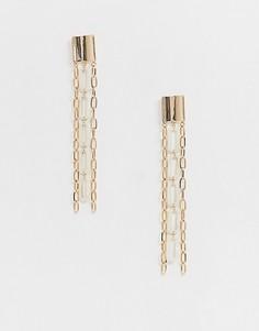 Золотистые серьги с отделкой ASOS DESIGN - Золотой