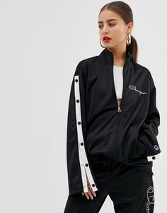 Спортивная куртка с кнопками и логотипом от комплекта Champion - Черный