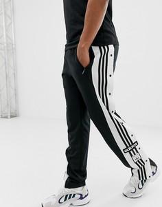 Черные джоггеры с кнопками adidas Originals - Черный