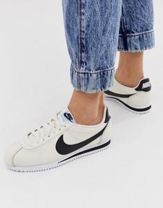 Бежевые кроссовки Nike Cortez - Белый