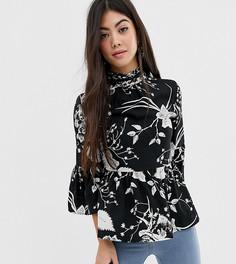 Свободная блузка с высоким воротом Vero Moda Petite - Мульти