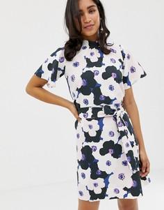 Присборенное А-образное платье Closet - Мульти
