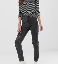 Джинсы в винтажном стиле с рваной отделкой Noisy May Tall - Черный
