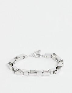 Серебристый браслет-цепочка ASOS DESIGN - Серебряный