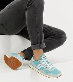 Голубые кроссовки в винтажном стиле Saucony DXN - Синий