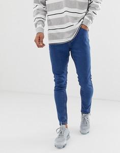 Голубые супероблегающие джинсы Bershka - Синий