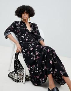 Платье с цветочным принтом b.Young - Черный