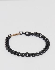 Черный браслет-цепочка с подвеской в виде молнии Classics 77 - Черный