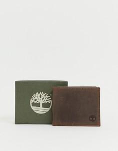 Темно-коричневый бумажник с отделением для монет Timberland - Коричневый