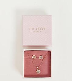 Серьги и ожерелье цвета розового золота Ted Baker - Золотой
