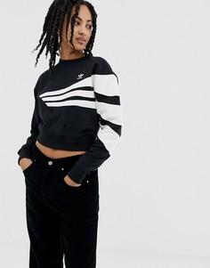 Черный свитшот adidas Originals Linear - Черный