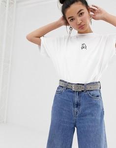 Oversize-футболка с вышивкой Lazy Oaf - Белый