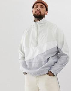 Серая куртка с молнией и галочкой Nike Vaporwave - Черный