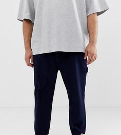 Свободные джинсы цвета индиго в крапинку ASOS WHITE Plus - Темно-синий