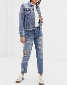 Рваные джинсы бойфренда Glamorous - Синий