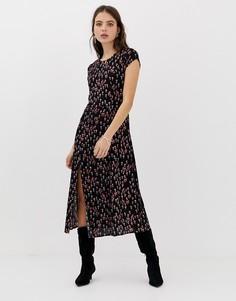 Платье макси с мелким цветочным принтом Free People Corrie - Черный