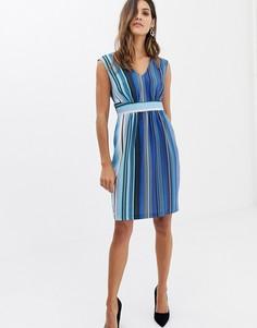 Платье в полоску с V-образным вырезом Closet - Синий
