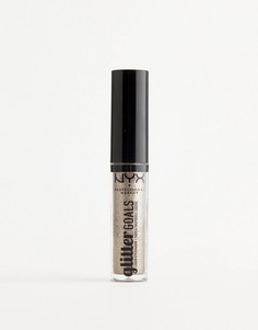 Жидкие тени для век с блестками NYX Professional Makeup - Oui Out - Золотой