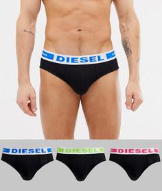 Набор черных трусов с логотипом Diesel - 3 шт. - Черный