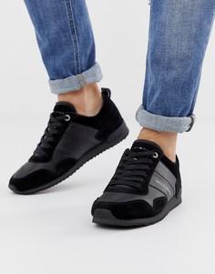 900535d27cfd Черные кожаные кроссовки Tommy Hilfiger - Черный