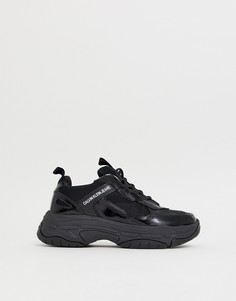 Черные кроссовки на массивной подошве Calvin Klein Marvin - Черный