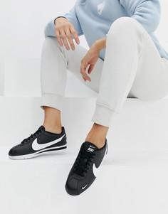 Черные кроссовки Nike Classic Cortez Premium - Черный
