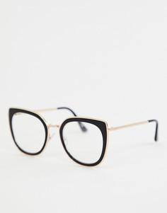 6b291a04daf4 Черные солнцезащитные очки кошачий глаз Jeepers Peepers - Черный