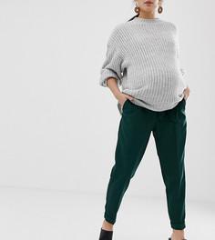 Брюки-галифе с поясом оби ASOS DESIGN Maternity - Зеленый