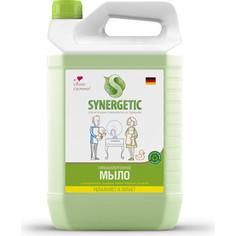 Жидкое мыло биоразлагаемое для мытья рук и тела Synergetic Луговые травы, канистра, 5 л