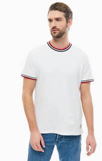 Белая хлопковая футболка Levis