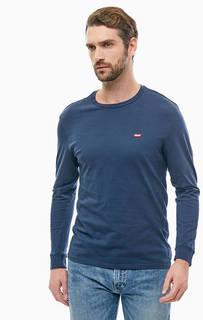 Синяя хлопковая футболка Levis