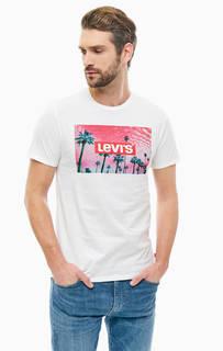 Хлопковая футболка с ярким принтом Levis