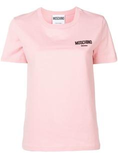 Moschino футболка с мелким логотипом
