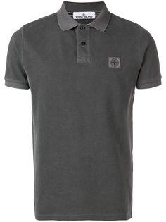 Stone Island рубашка-поло с нашивкой-логотипом