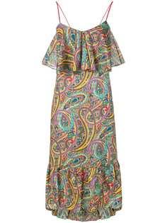 Etro платье макси с принтом пейсли