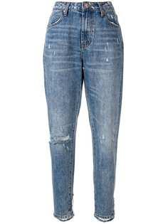 One Teaspoon зауженные джинсы с эффектом потертости