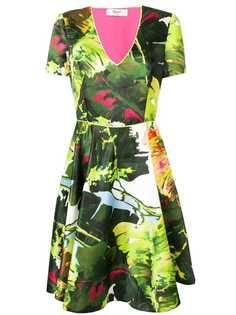 Blugirl расклешенное платье с цветочным принтом