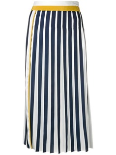 Victoria Victoria Beckham плиссированная юбка миди дизайна колор-блок