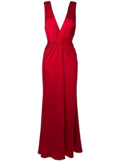 Amiri вечернее платье макси с V-образным вырезом