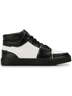 Balmain perforated hi-top sneakers