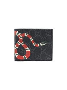 Gucci кошелек с принтом змеи GG Supreme