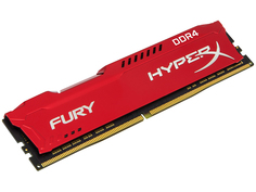 Модуль памяти Kingston HyperX Fury Red DDR4 DIMM 3200MHz PC4-25600 CL18 - 8Gb HX432C18FR2/8