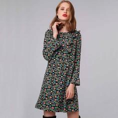 Платье короткое с цветочным принтом и воланами Compania Fantastica