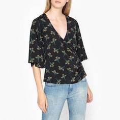 Блузка с V-образным вырезом и короткими рукавами FERDY Ba&;Sh