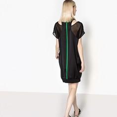 Платье прямое однотонное с эффектом 2 в 1 La Redoute Collections