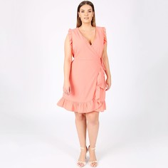 Платье без рукавов с запахом и воланами Lovedrobe